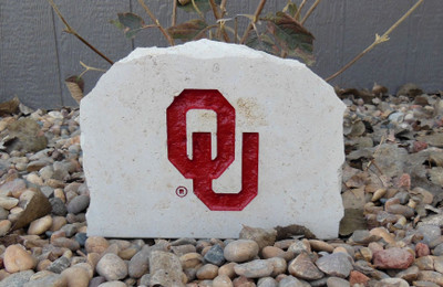 Oklahoma Sooners Decorative Stone Medium OU| Stoneworx | okl9