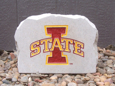 "Iowa State Cyclones Decorative Stone Medium ""I""  Stoneworx   iowastate6"