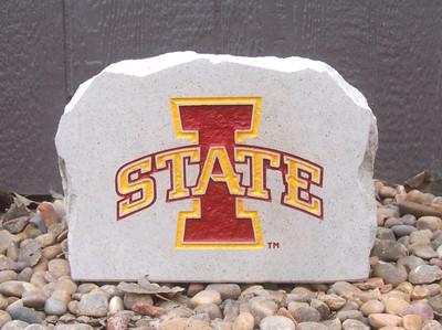 "Iowa State Cyclones Decorative Stone Medium ""I""| Stoneworx | iowastate6"