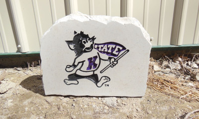 Kansas State Wildcats Decorative Stone Medium  Stoneworx   ksu22