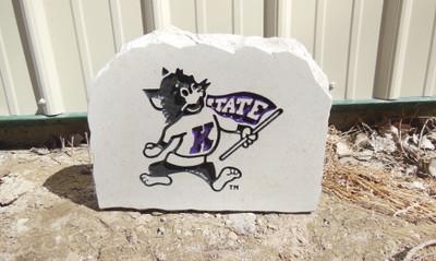 Kansas State Wildcats Decorative Stone Medium| Stoneworx | ksu22