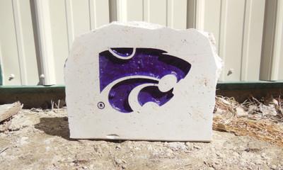Kansas State Wildcats Decorative Stone Medium Powercat| Stoneworx | ksu24