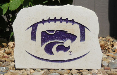 Kansas State Wildcats Decorative Stone Medium Football| Stoneworx | ksu30