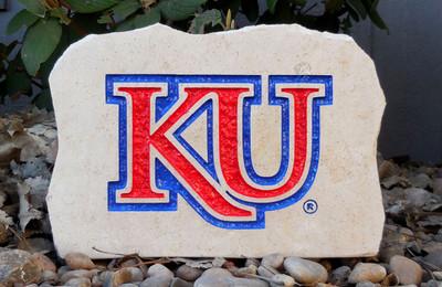 Kansas Jayhawks Decorative Stone Medium| Stoneworx | ku12