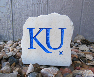 Kansas Jayhawks Decorative Stone 5.5| Stoneworx | ku15