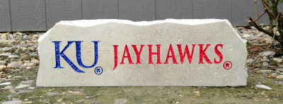 Kansas Jayhawks Decorative Stone Long| Stoneworx | ku16
