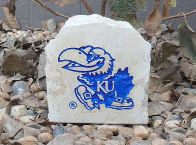 Kansas Jayhawks Decorative Stone Jayhawk 5.5  Stoneworx   ku24