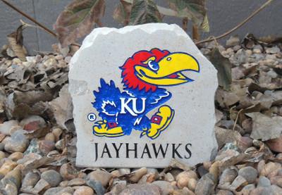 Kansas Jayhawks Decorative Stone Jayhawk 7| Stoneworx | ku36