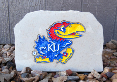 Kansas Jayhawks Decorative Stone Medium Jayhawk| Stoneworx | ku9