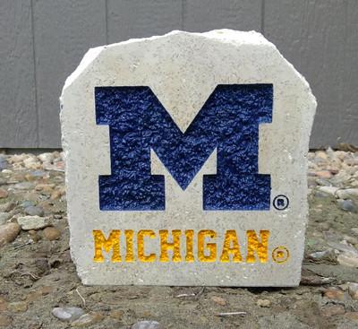 Michigan Wolverines Decorative Stone Michigan 7| Stoneworx | mich18