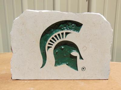 MSU Spartans Decorative Stone Medium| Stoneworx | msu6