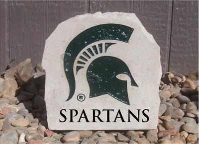 MSU Spartans Decorative Stone Spartans 7| Stoneworx | msu7
