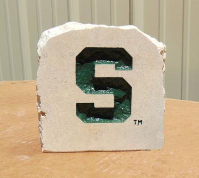 MSU Spartans Decorative Stone 5.5| Stoneworx | msu8
