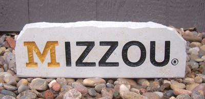 Missouri Tigers Decorative Stone Long  Stoneworx   mizzou14