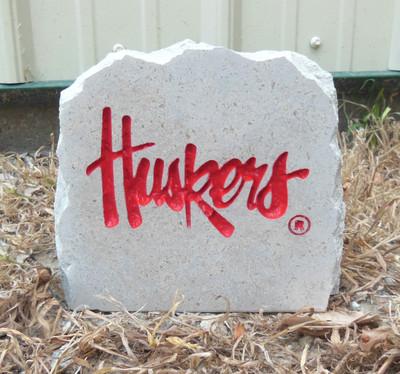 Nebraska Huskers Decorative Stone 5.5| Stoneworx | neb16