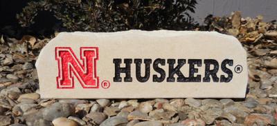 Nebraska Huskers Decorative Stone Long| Stoneworx | neb29