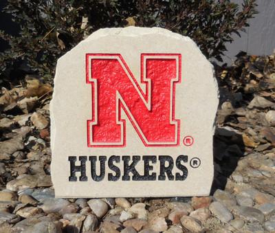 Nebraska Huskers Decorative Stone Huskers 7| Stoneworx | neb31