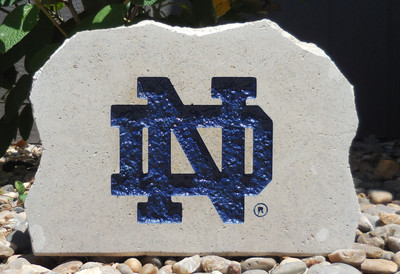 Notre Dame Fighting Irish Decorative Stone Medium| Stoneworx | ndame5
