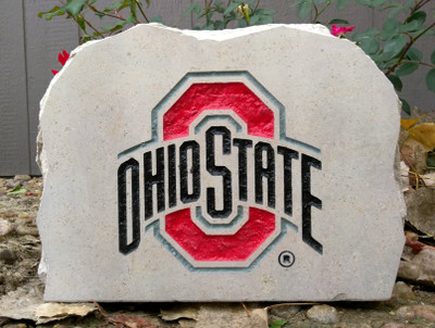 Ohio State Buckeyes Decorative Stone Medium| Stoneworx | buckeyes5