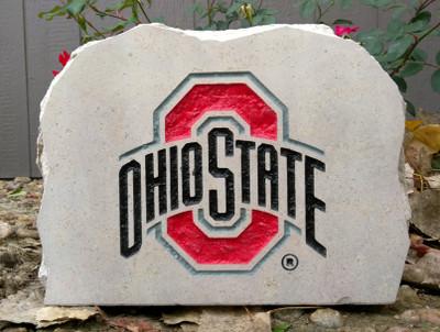 Ohio State Buckeyes Decorative Stone Medium| Stoneworx | buckeyes5