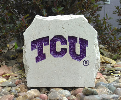 TCU Horned Frogs Decorative Stone 5.5| Stoneworx | TCU17