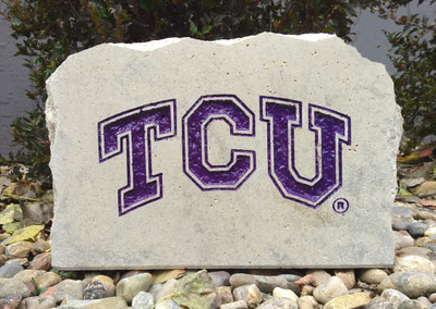 TCU Horned Frogs Decorative Stone Medium| Stoneworx | TCU7