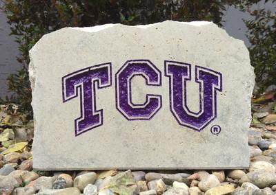 TCU Horned Frogs Decorative Stone Medium| Stoneworx | TCU7
