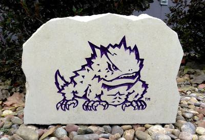 TCU Horned Frogs Decorative Stone Medium Logo  Stoneworx   TCU9