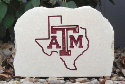 Texas A&M Aggies Decorative Stone Medium| Stoneworx | texasam6