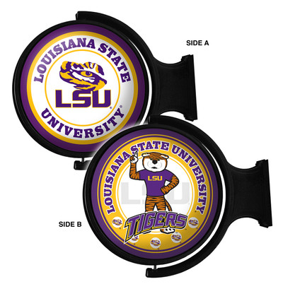 LSU Tigers Rotating Illuminated LED Wall Sign-Round 2 Sided | Grimm | LS-115-03