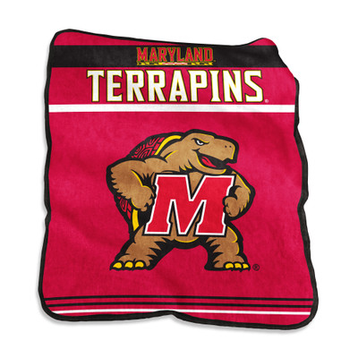 Maryland Terrapins Gameday Raschel Throw Blanket | Logo Chair | 167-261