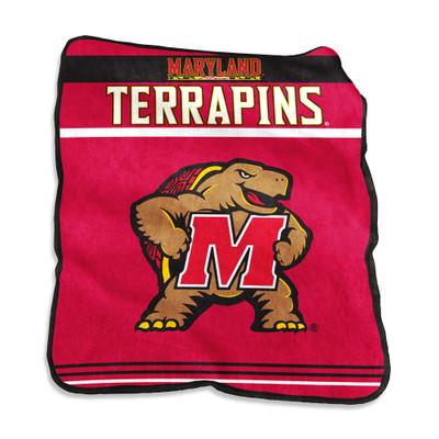 Maryland Terrapins Gameday Raschel Throw Blanket | Logo Chair | 167-261