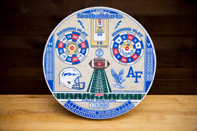 US AIR FORCE ACADEMY OFFICIAL FOOTBALL DARTS DARTBOARD | FOOTBALL DARTS | FDUAFA01