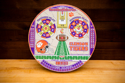 CLEMSON TIGERS OFFICIAL FOOTBALL DARTS DARTBOARD | FOOTBALL DARTS | FDCU01