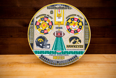 IOWA HAWKEYES OFFICIAL FOOTBALL DARTS DARTBOARD | FOOTBALL DARTS | FDUI01
