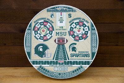 MICHIGAN STATE SPARTANS OFFICIAL FOOTBALL DARTS DARTBOARD | FOOTBALL DARTS | FDMSU01