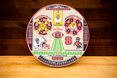 NORTH CAROLINA STATE WOLFPACK OFFICIAL FOOTBALL DARTS DARTBOARD | FOOTBALL DARTS | FDNCS01