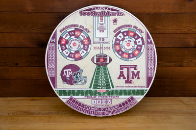 TEXAS A&M AGGIES OFFICIAL FOOTBALL DARTS DARTBOARD | FOOTBALL DARTS | FDTAMU01