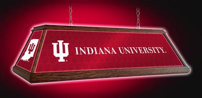 "Indiana Hoosiers 49"" Premium Deluxe Wood Pool Table Light | Grimm Industries |IN-330-01"