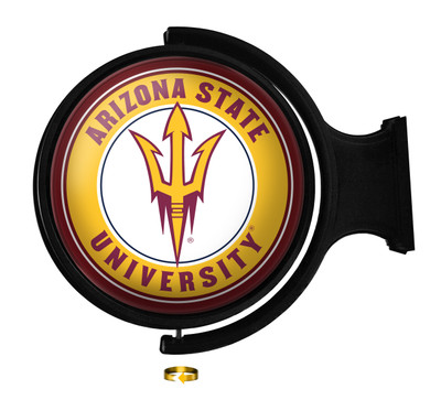 Arizona State Sun Devils Rotating Illuminated LED Team Spirit Wall Sign Round| Grimm Industries |AS-115-01