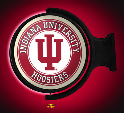 Indiana Hoosiers Rotating Illuminated LED Wall Sign-Round |Grimm industries | IN-115-01
