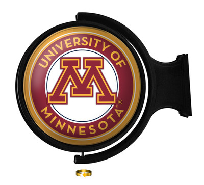 Minnesota Golden Gophers Rotating Illuminated LED Wall Sign-Round |Grimm industries | MN-115-01