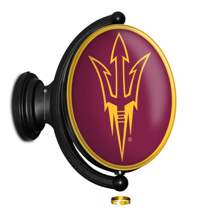 Arizona State Sun Devils Rotating Illuminated LED Team Spirit Wall Sign-Oval | Grimm Industries |AS-125-01