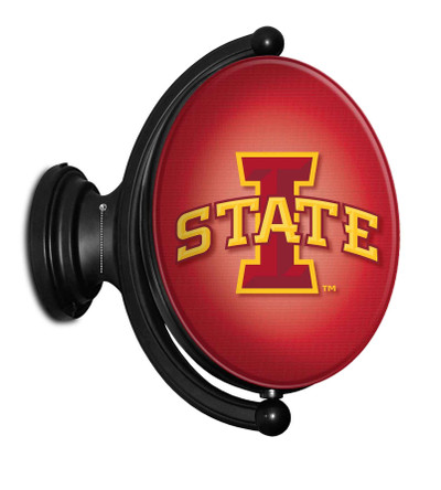 Iowa State Cyclones Rotating Illuminated Team Spirit Wall Sign-Oval-Bubble Logo| Grimm Industries |IS-125-01