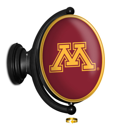Minnesota Golden Gophers Rotating Illuminated LED Team Sprit Wall Sign-Oval | Grimm Industries |MN-125-01