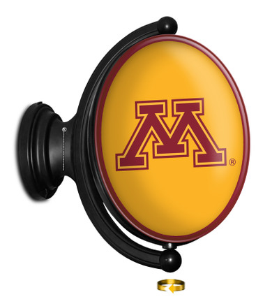 Minnesota Golden Gophers Rotating Illuminated LED Team Sprit Wall Sign-Oval | Grimm Industries |MN-125-02