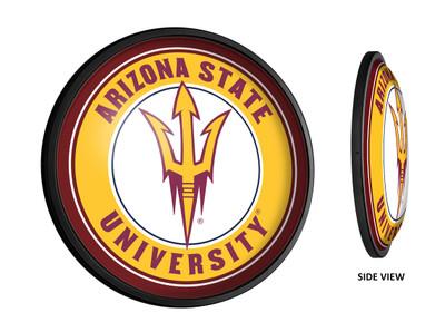 Arizona State Sun Devils Slimline Illuminated LED Team Spirit Wall Sign-Round | Grimm Industries |AS-130-01