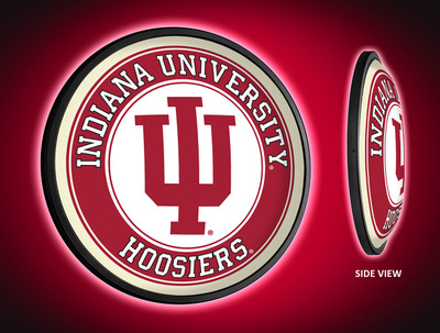 Indiana Hoosiers Slimline Illuminated LED Wall Sign-Round | Grimm Industries | IN-130-01