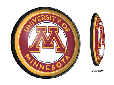 Minnesota Golden Gophers Slimline Illuminated LED Wall Sign-Round |Grimm Industries | MN-130-01