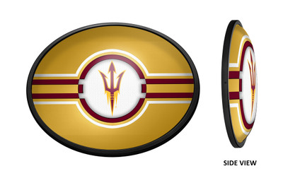 Arizona State Sun Devils Slimline Illuminated LED Team Spirit Wall Sign-Oval-Gold| Grimm Industries |AS-140-02